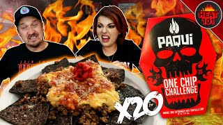 ~NEW~ 2020 One Chip Challenge X20 | Carolina Reaper Nachos?!
