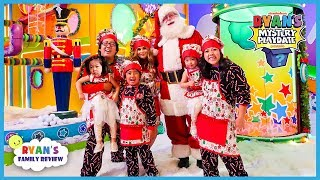 Ryan's Mystery Playdate Christmas Special with Santa and Rosanna Pansino!!!