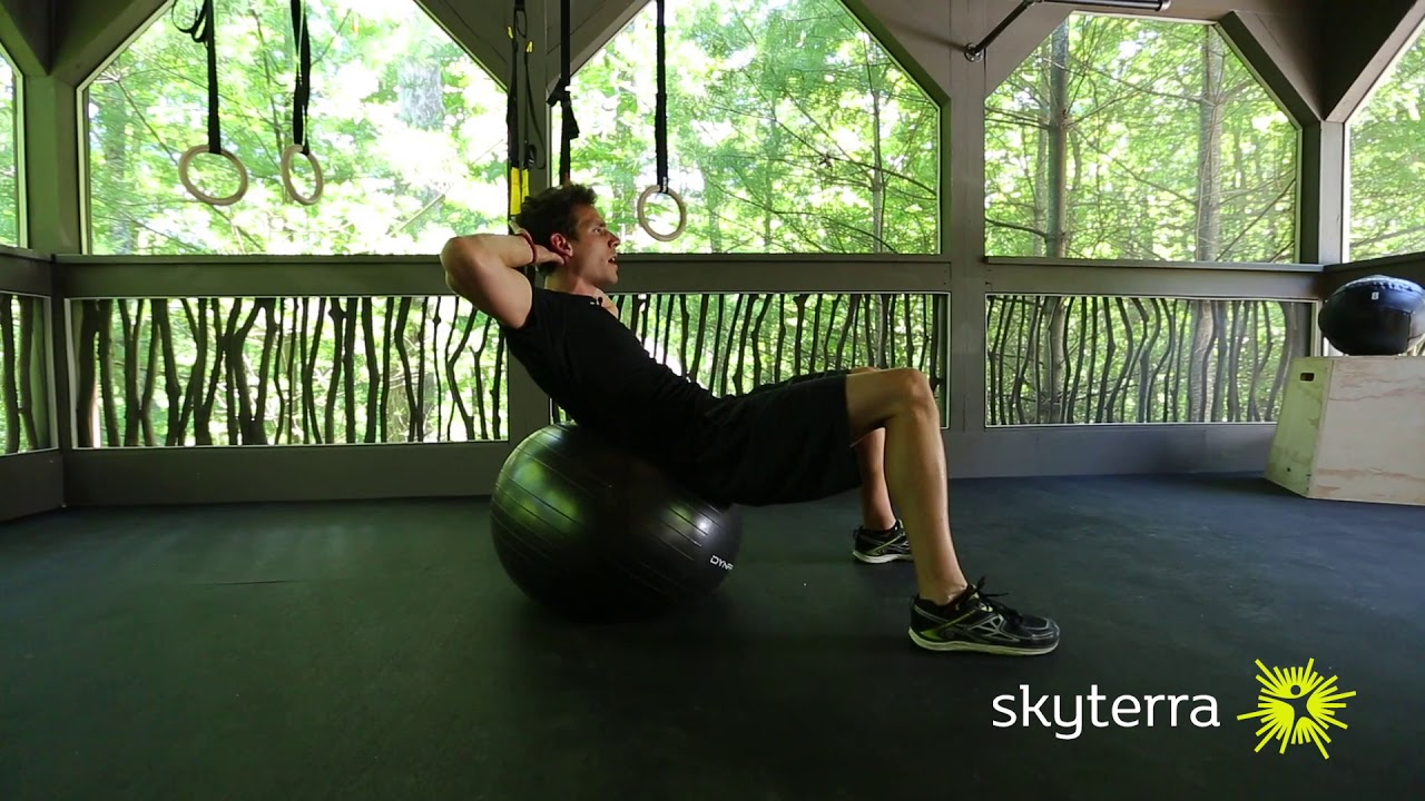 Movement Library: Crunches on Exercise Ball