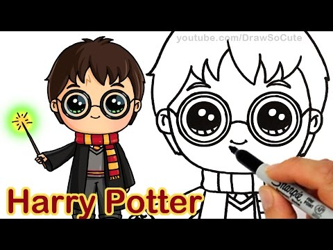 How To Draw Harry Potter Easy Chibi Youtube