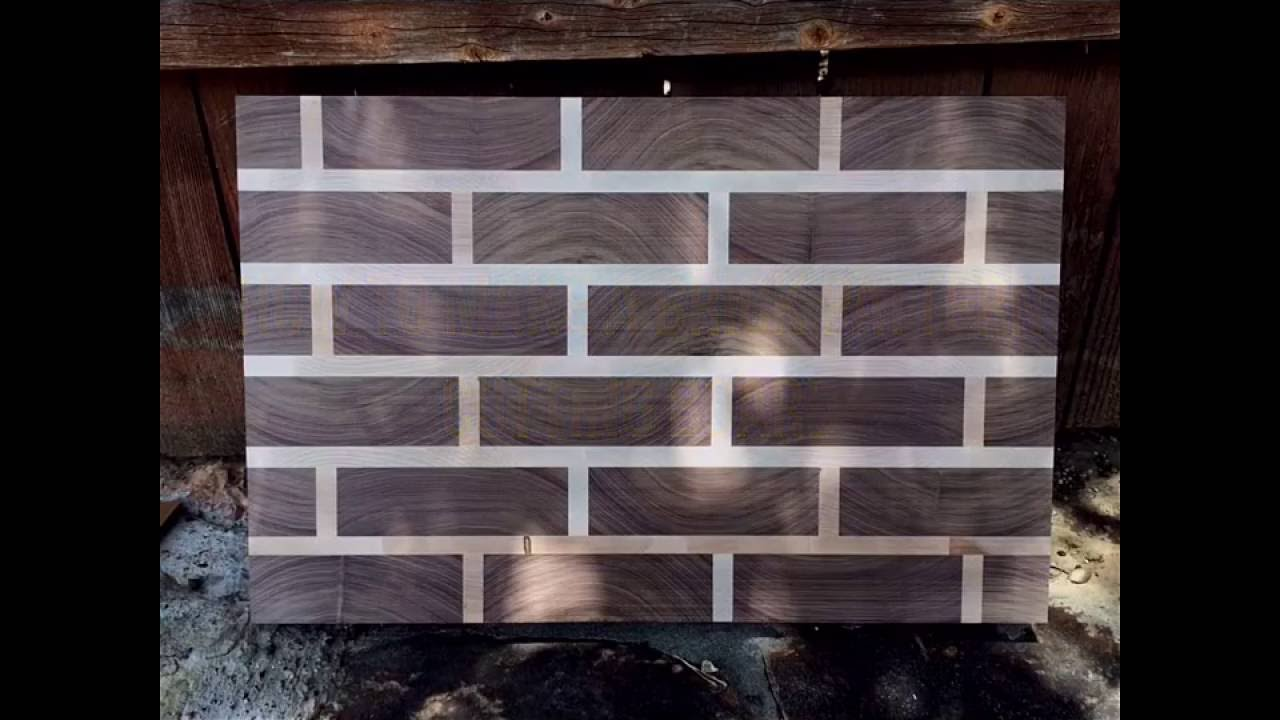 making a brick pattern cutting board youtube