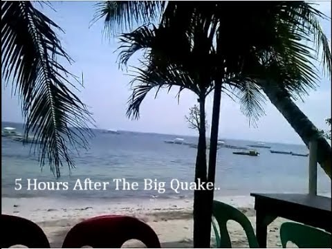 Bohol Earthquake: 5 Hours After, At The Beach - Philippines