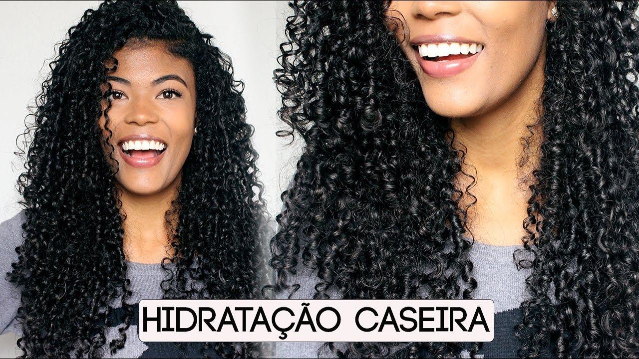 Hidratacao para cabelos cacheados ressecados