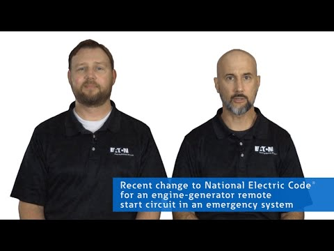 NEC code change for an engine-generator remote start circuit