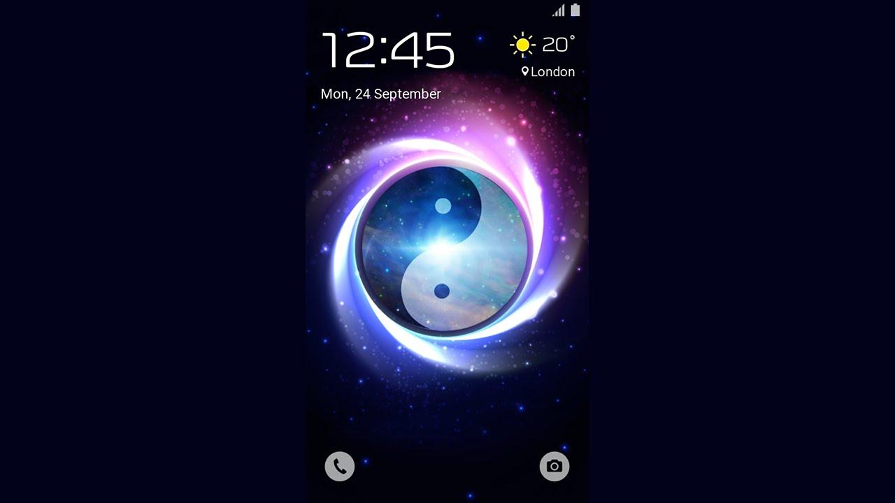 Galaxy Theme Yin Yang Animated Lockscreen Youtube