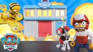 Paw Patrol Fire Rescue  and Pirate Pups Look for Treasure 🐾 🏝 Paw Patrol Toy Video