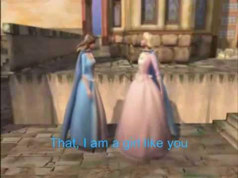 Barbie - The Princess And The Pauper - A Girl Like You (Lyrics).flv