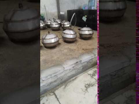 blowing oval metal sphere