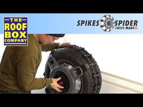 spikes spider sport snow chains how to fit youtube. Black Bedroom Furniture Sets. Home Design Ideas