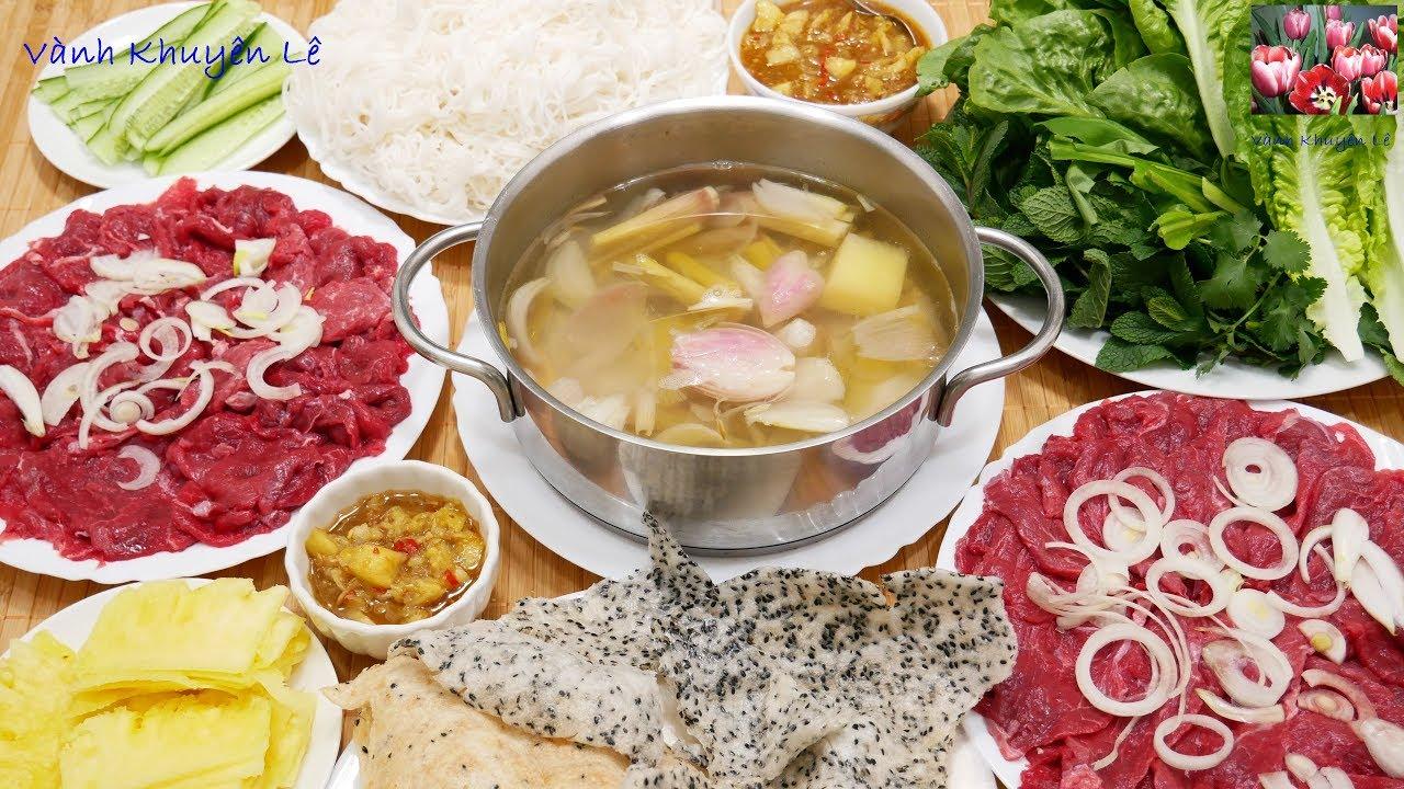 BÒ NHÚNG GIẤM / LẨU BÒ – Bí quyết để Thịt Bò KHÔNG bị dai – Cách pha nước Chấm by Vanh Khuyen