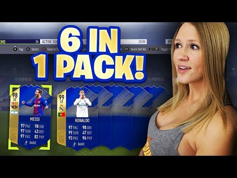 6 TOTS CARDS IN 1 PACK!! FIFA 18 TOP 100 TOTS REWARDS!!