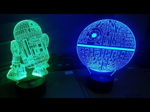 Led Lampara Estrella 3d Muerte R2 D2arturitoY De La Wars Star kZN8wOnP0X