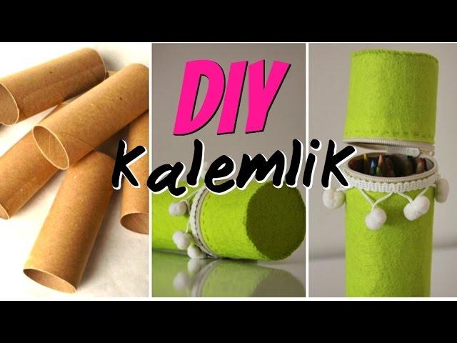 Ka??t Rulodan Kalemlik Yap?m? / KEND?N YAP / DIY Toilet Paper Roll Pencil Case