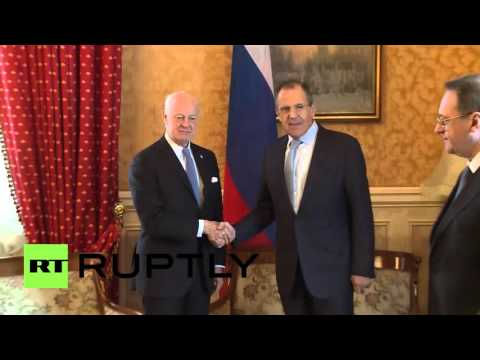 Switzerland: Lavrov and De Mistura meet on side-lines of UNHRC