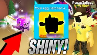 I GOT A SHINY PET IN MINING SIMULATOR!! *SUPER RARE* (Roblox)