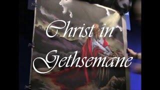 Christ in Gethsemane Chalk Drawing