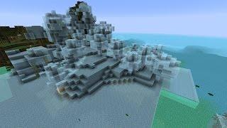 Terraforming in Minecraft Vanilla 1.8 - only one command [EN] [HD]