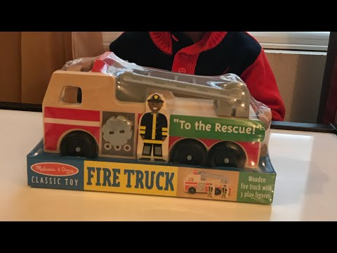 Melissa & Doug Toys At Whimzy In Noblesville- Wooden Fire Truck