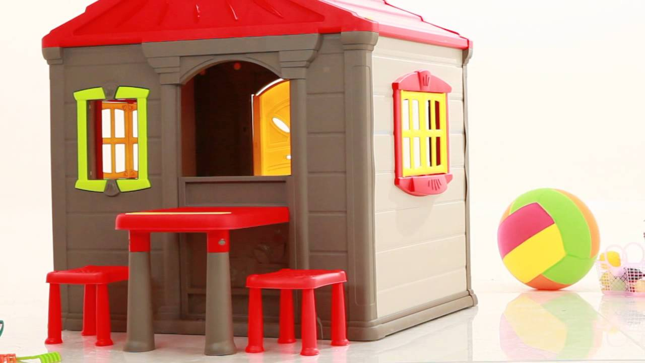 Keter casas de juego jumbo youtube for Casitas de jardin de plastico