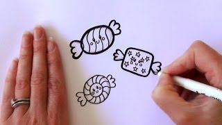 How to Draw Cartoon Candy