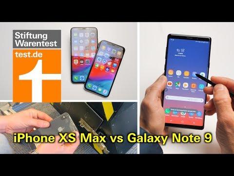 Test Apple iPhone XS & iPhone XS Max vs Samsung Galaxy Note 9 - welches versagt im Falltest?