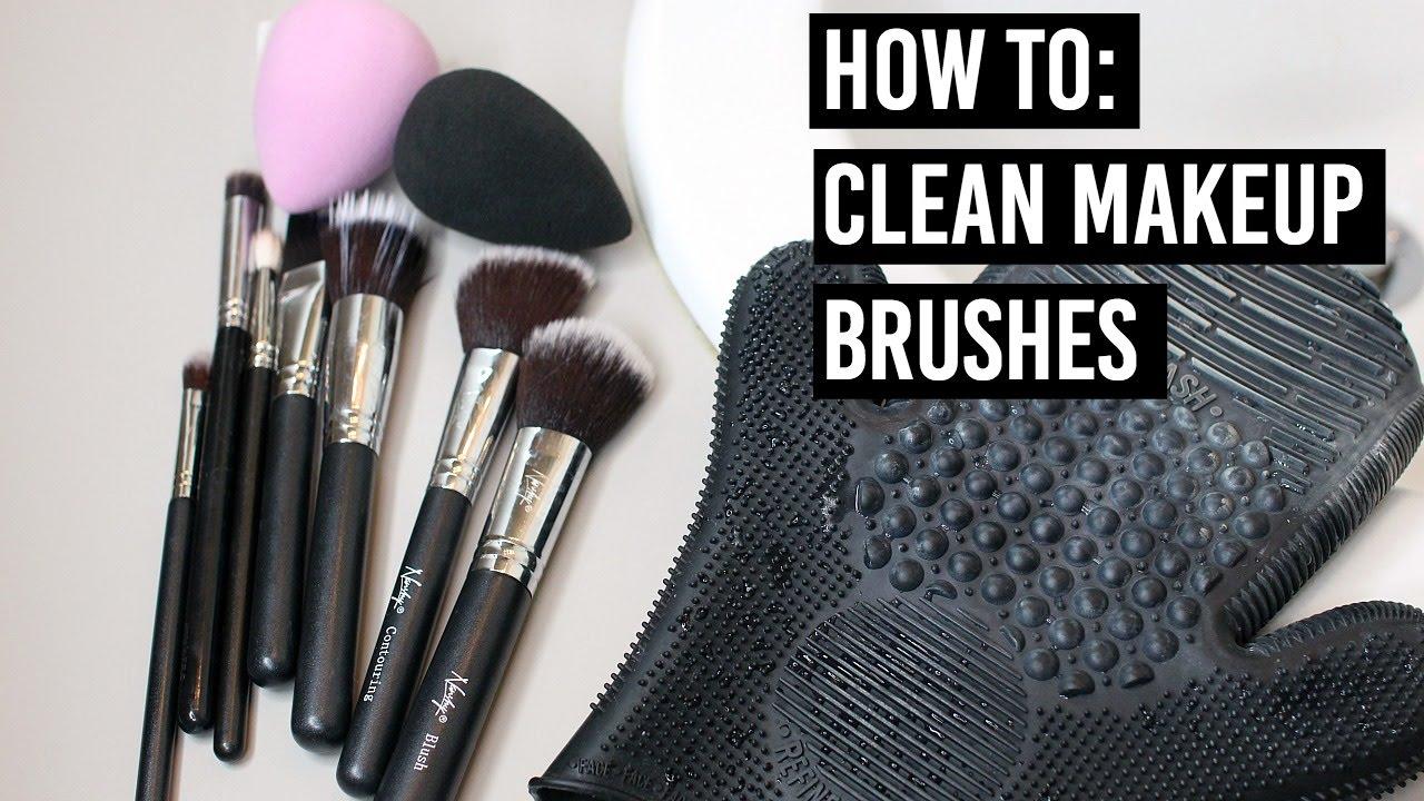 How To: Clean Makeup Brushes (Deep/Spot) : MissTiffanyKaee - YouTube