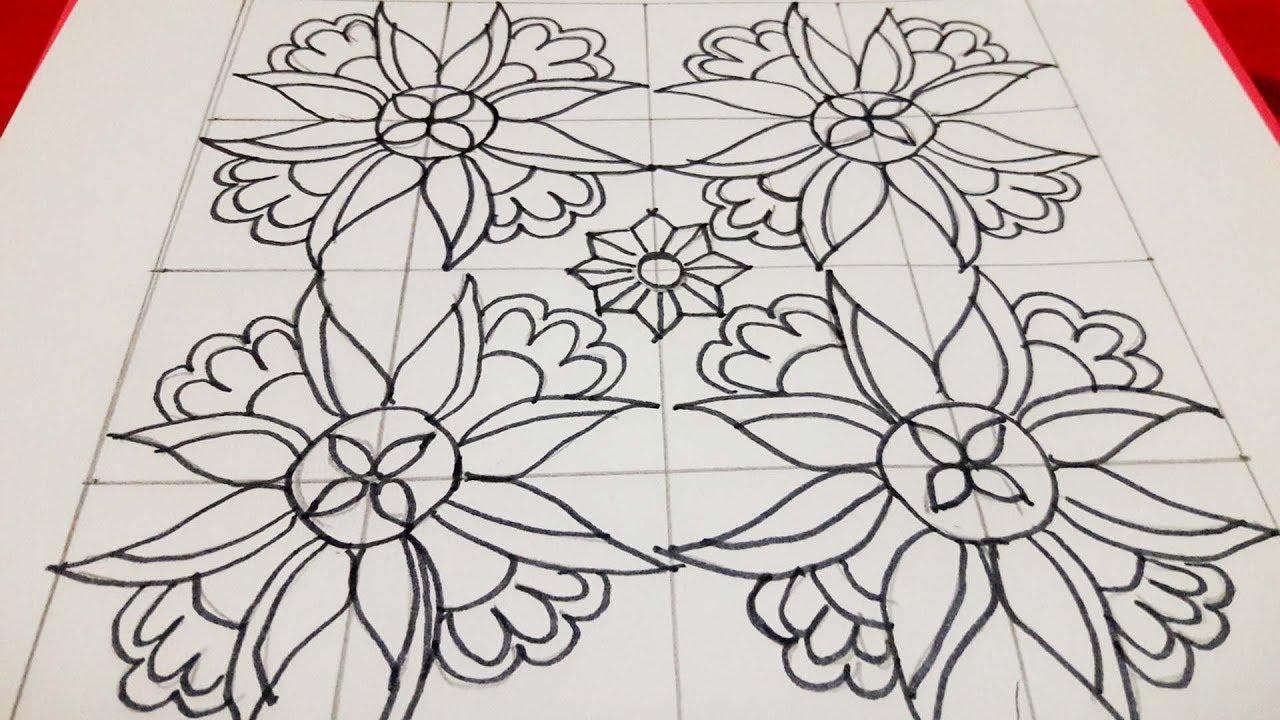 Latest U0026 Easy Nakshi Kantha Design Drawing Tutorial For Beginners/u09a8u0995u09b6u09c0u0995u09beu0981u09a5u09beu09b0 U09a8u0995u09b6u09be U09a1u09bfu099cu09beu0987u09a8 - YouTube