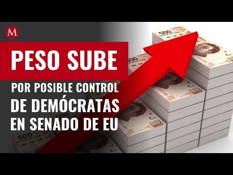 Precio del dólar hoy: Peso sube por posible control de demócratas en Senado de EU