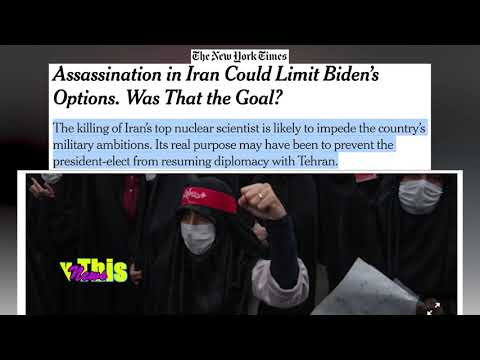 The New York Times   Assassination in Iran Could Limit Biden's Options. Was That the Goal?