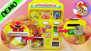 AUTOMAT Z NAPOJAMI do domu | Süßer Asia Candy Spielautomat für Puppen oder Kaufmannsladen Anpanman