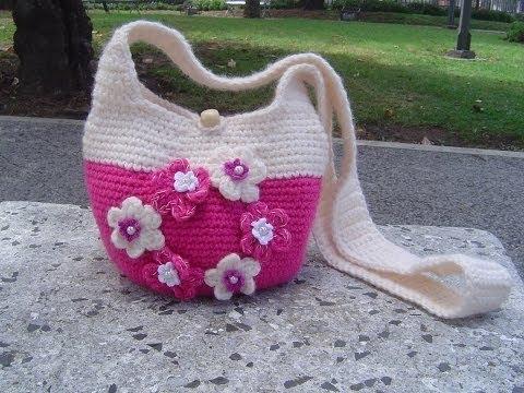 Como hacer Bolso tejido a crochet paso a paso parte 12 YouTube