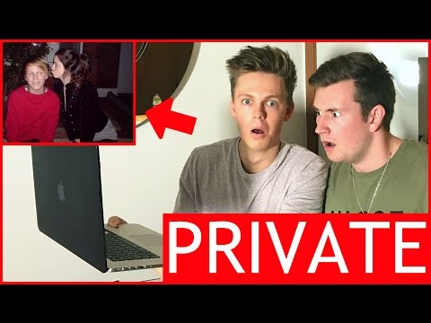 REACTING TO MY PRIVATE FACEBOOK PHOTOS LIVE