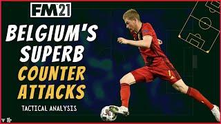 De Bruyne Key To Belgium's SUPERB Counter-Attacks | Martinez Tactical Analysis & FM21 Tactics