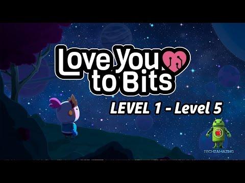 Love You To Bits Walkthrough Level 1 2 3 4 5 (ALL BONUS ITEMS) - GAMEPLAY