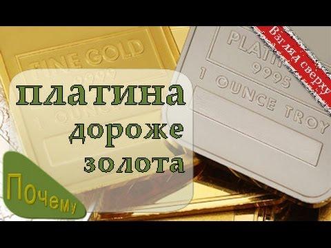 Платина. Почему золото дешевле. Интересные факты