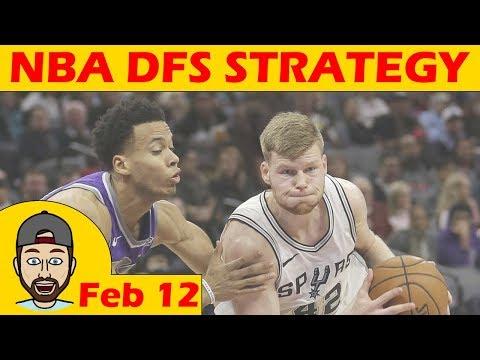 NBA DFS Projections & Strategy | Monday 2/12 | FanDuel & DraftKings