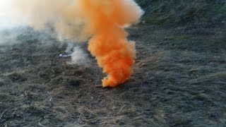 HOMEMADE COLORED SMOKE BOMB| Orange Dye