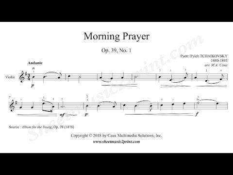 Tchaikovsky : Morning Prayer Op. 39, No. 1 - Violin