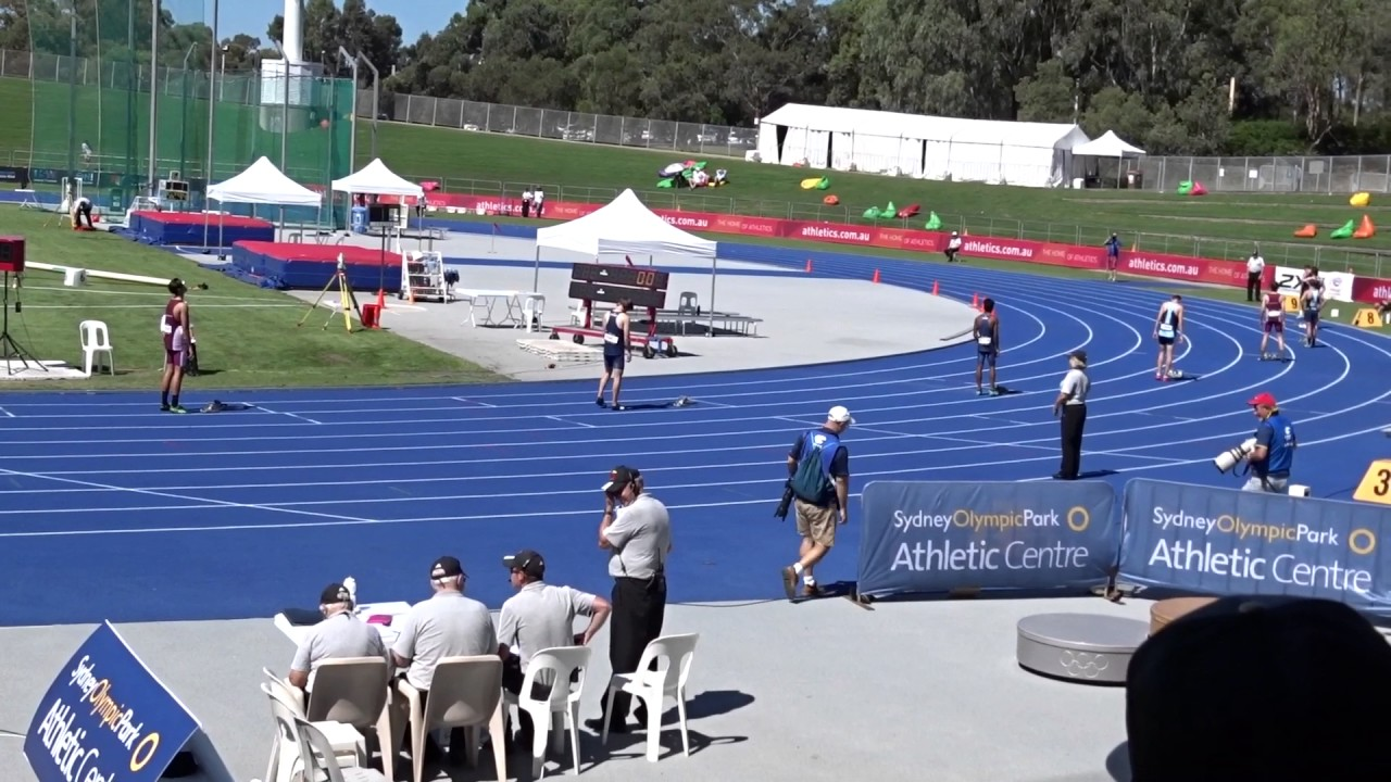 U 17yrs 400m Men Final Australian Athletics Championships Olympic Park Sydney 27 03 2017