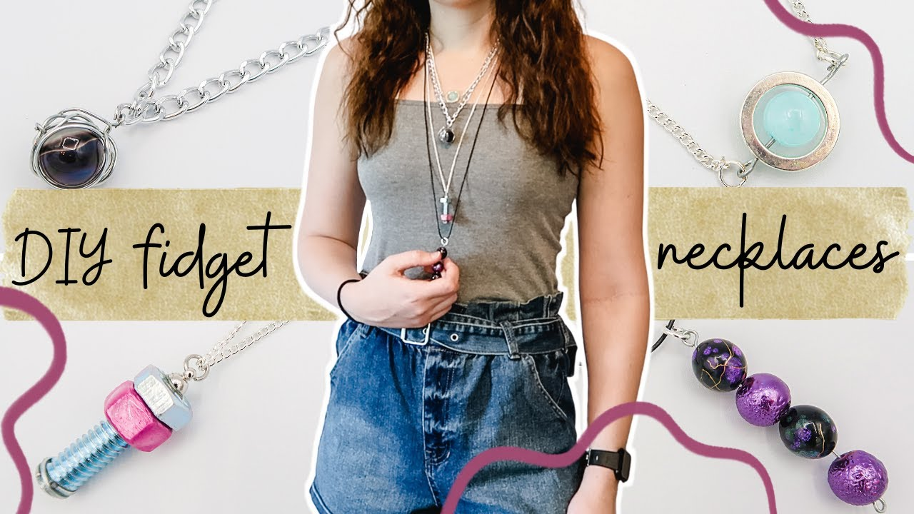 DIY Fidget Necklaces! EASY Homemade Fidget Toys you NEED to try!