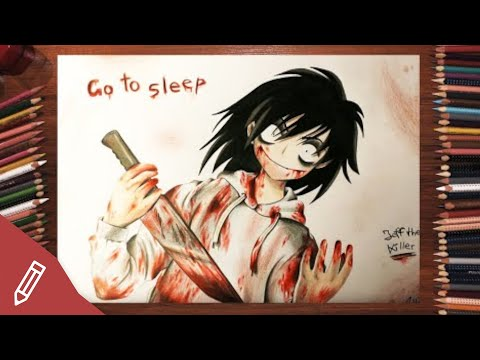 SPEED DRAWING: Jeff The Killer CREEPYPASTA (Manga /Anime) HORROR PORTRAIT | Zeichnen Mit Buntstiften