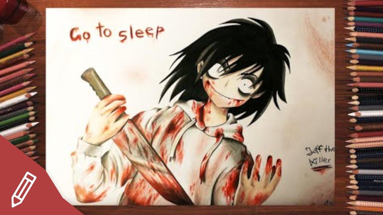 Drawing Jeff The Killer Creepypasta Horror Portrait Anime Manga