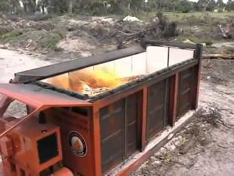 Air Burners, Inc    Air Curtain Burner   Destructor for Wood Waste Disposal