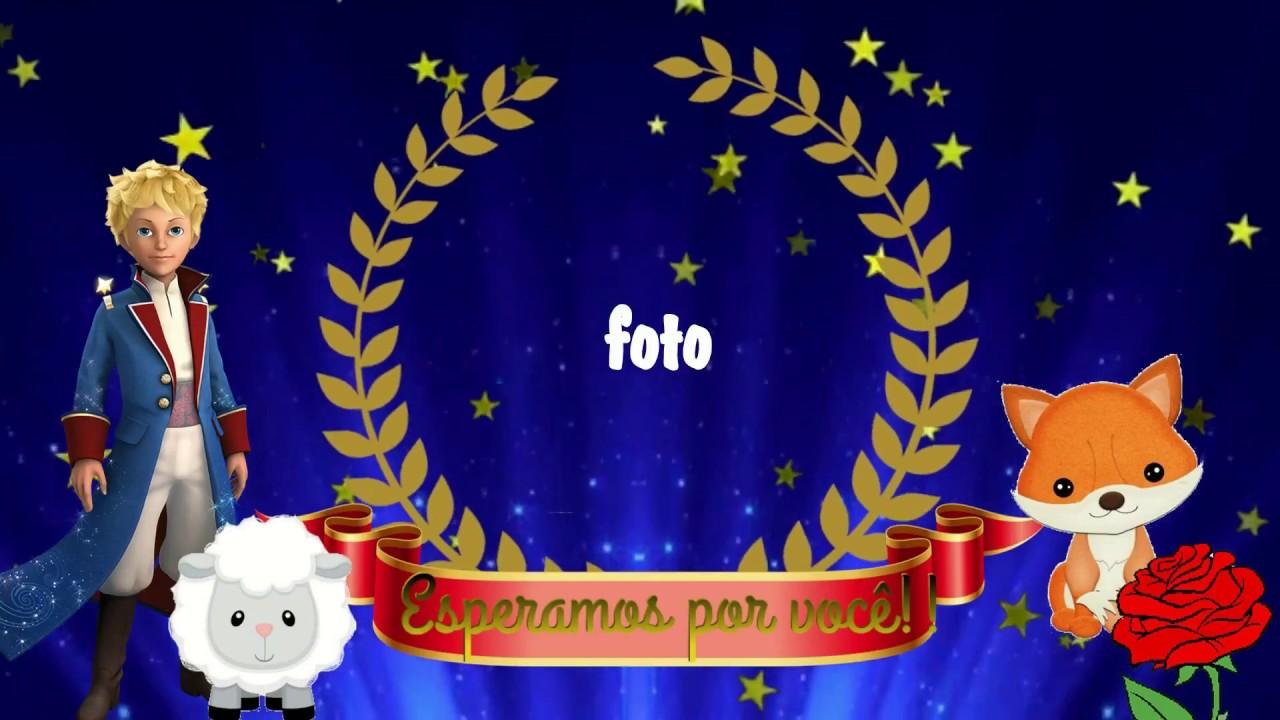 Convite Animado Pequeno Principe Tkm Convites Animados