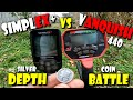Simplex VS Vanquish Depth Test Silver Mercury Dime Stock Search Coil Coin Testing