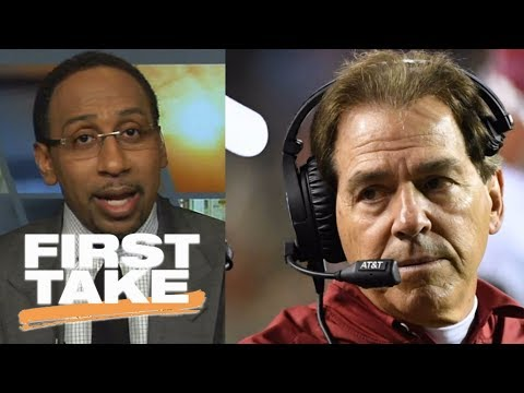 Stephen A. Smith thinks Nick Saban should coach the Giants | First Take | ESPN