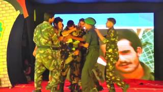 patriotic act on indian army by school children