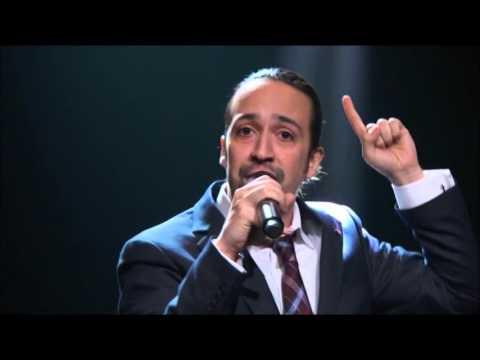 Lin Manuel Miranda sings for Puerto Rico on Last Week Tonight