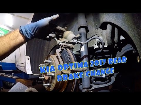 How to replace rear brake pads on 2017 KIA OPTIMA