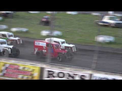 Petaluma Speedway Dwarf Car Feature First Part Crash